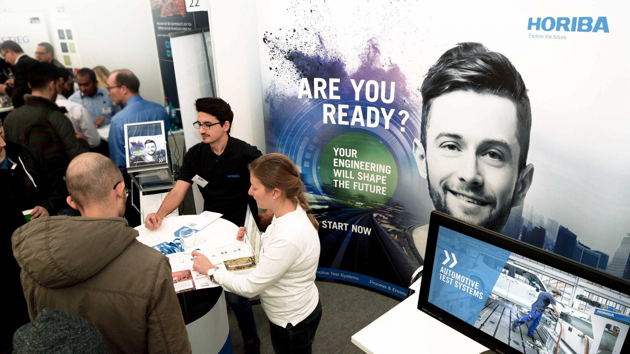 Recruiting Messedesign, Messebanner für HORIBA: DIE NEUDENKER® Agentur, Darmstadt