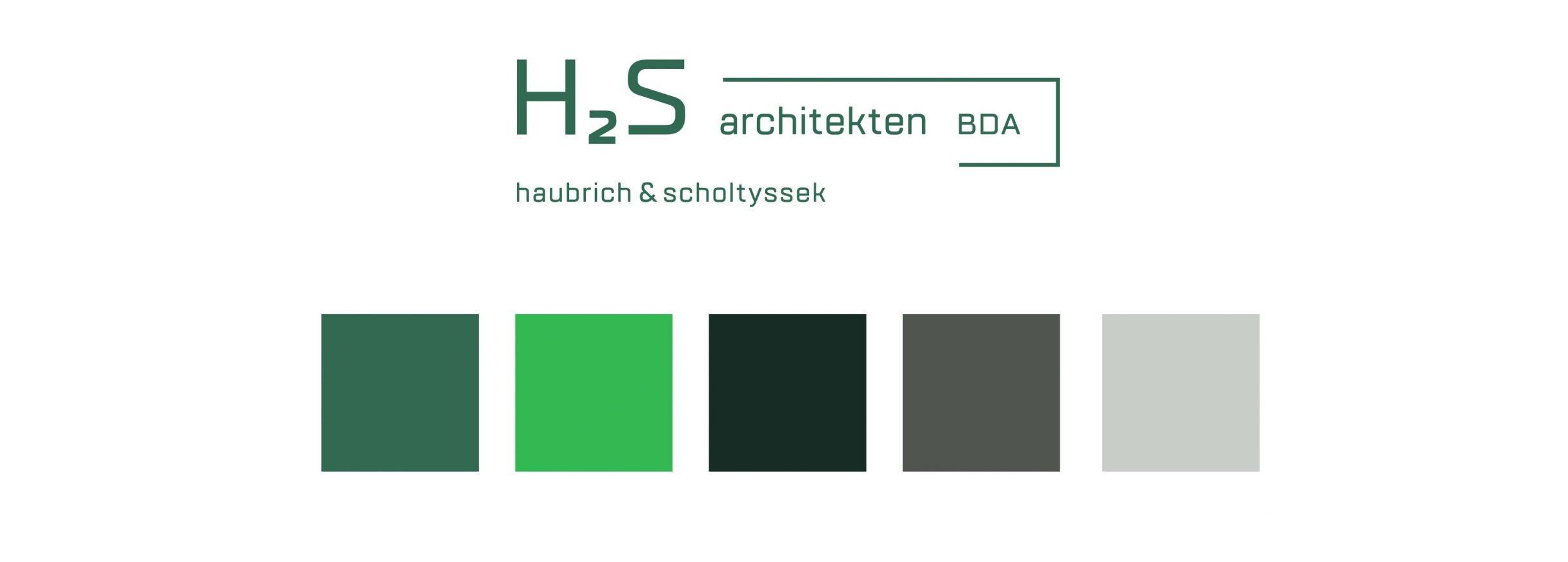 corporate colours für h2s architekten: DIE NEUDENKER, Corporate Design Agentur Darmstadt