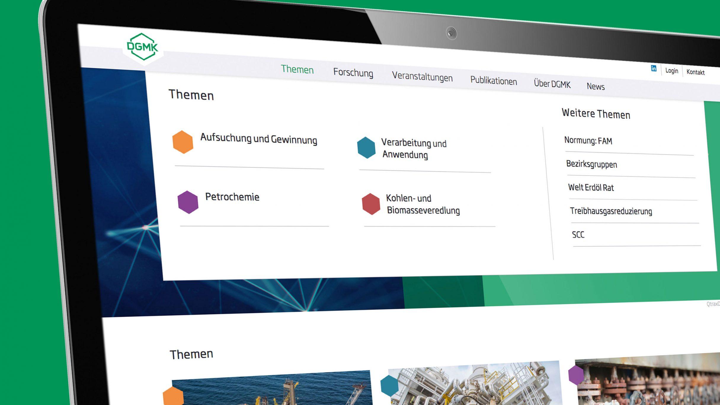 Responsive Website, Navigation Themenübersicht: DIE NEUDENKER, Darmstadt